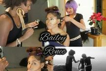behind-the-scenes / Pics that I've shot while on set or for runway and pics of me doing makeup