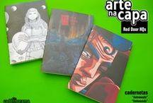 Arte na Capa/ Art on the cover / Cadernetas com estampas exclusivas assinadas por artistas/ Notebooks with exclusive stamps signed by artists