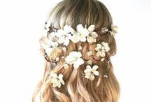 Wedding hairstyles / hairstyles and hair colour