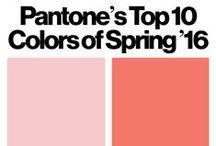 Pantone Spring 2016 / Ispirazioni
