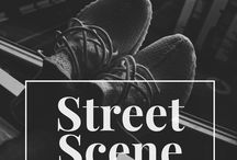 Street Scene / Content: streetwear clothes, high end fashion, sneakers, luxury lifestyle, influencer peek, hypebeast pics, class outfits