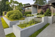 Geometric Garden Inspirations / We love the simple lines of these gardens and how easily the eye seamlessly moves across them.