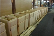 Unfinished Kitchen Cabinets / HOOD'S in West Alton, Missouri has just received our latest order of Genuine U.S.A. made Unfinished Kitchen Cabinets. We have all sizes wall & base units. Our wall units range from 9 inches wide to 36 inches wide, and our base units range from 9 inches wide to 72 inches wide.  We can also order custom cabinets.