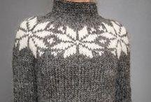 sweterki bluzeczki na drutach