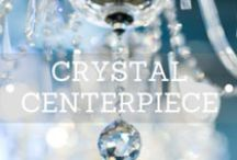 Centerpieces Crystal / Decorit Events collection of crystal centerpieces comprises of candelabra, candlesticks, tealight holders, vases and crystal strands