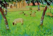 'The Churchyard Orchard' by Andrew Stewart Jamieson / Painting and inspiration.