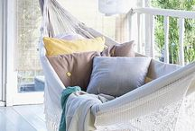 Outdoors: Hammocks & Seating / An ideas board for hammocks & outdoor seating to entice you to relax with a good book.