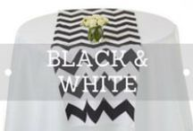 Black and White Style / Decorit Events black and white collection consists of candlesticks, candelabra, vases and accessories. Table linen fabrics in sequins, organza and satins in tablecloths and  napkins