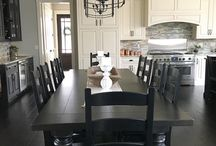 Home: Black Furniture / My house is white, black & grey. This is the inspiration for my furniture if I go black!