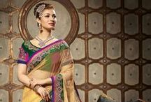Georgette Embroidered Sarees / Show off your elegant style with all new range of mesmerizing georgette party wear embroidered sarees perfect for functions & parties. Pick yours now from http://www.mishreesaree.com/Online/New-Arrivals