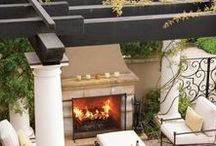 Patio´s and fireplace´s....