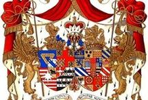 Grand Armorial Vellum Library Paintings / Grand Armorial Paintings represent the finest heraldic art available in the world today. These coats of arms are designed and painted by British heraldic artist and designer Andrew Stewart Jamieson and are his most exclusive range of paintings.   To commission heraldic art please contact: enquiries@jamiesonstudios.com  or visit his website: www.andrewstewartjamieson.com