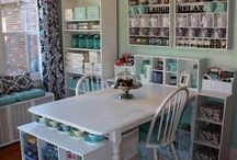 Craft: Craft Room Ideas / Ideas to make my craft room but it's probably more like a craft wall space - I can dream!