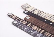 Wood Bracelets / Now wood is a wearable material. The beauty of a natural material - wood - now becomes wearable, as jewelry.