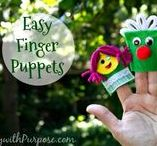 EASY Finger Puppets to Make / What a fun and easy toy to make.  You can put them in your shoebox gifts, slip one into a card for a child in the hospital, or donate to a local charity as well!