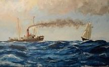 Marine Art / Paintings of ships and the sea.
