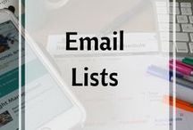 Email Lists for Blogs / Creating email lists for blogs and opt ins.