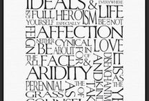 Moodboard Typographie