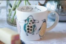 Anna Wright Tableware and Accessories / Best-selling penguin bags, bone china mugs and newly released tablemats.
