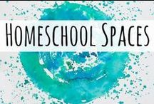 Homeschool Spaces / Tips and tricks for making your homeschool space work for you!