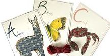 Alphabet Ideas & Children's Room Decor / Decorating a child's room with alphabets, animals, colour and pattern