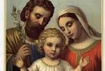 CF The Holy Family / The Holy Family is Mary the Blessed Virgin, St Joseph and Jesus.  Please pin with discernment to avoid duplicate pins.  Thank you.