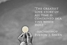 CF The Holy Eucharist / Please pin with discernment to avoid duplication. / by CatholicFeast
