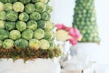 Arrangements with Fruits and Vegetables / Adding fruits and vegetables to arrangements is a popular trend right now!