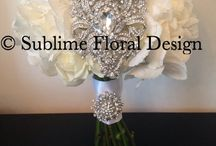 White and bling weddings