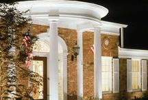 Long Island Architectural & Facade Lighting / Our trained outdoor lighting designers focus on highlighting all the best features of the front of your property to increase its curb appeal and create a welcoming ambiance.
