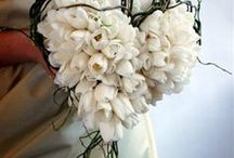 Unusual bouquet  and boutonnier / Bridal bouquets and boutonnieres of fabulous and unusual style