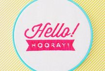hellohoorayshop / Colourful and fun hand embroidery - stitched goods and embroidery patterns at hellohoorayshop on Etsy