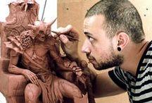 Figuras referenciales y esculpido