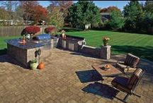 """Outdoor Kitchens / At Above All Masonry, we can help you design beautiful yet functional outdoor kitchens and built-in BBQs that will perfectly complement your existing landscaping and outdoor living spaces. We'll work with you to create the ideal outdoor kitchen for your home, whether you like to host lavish parties or laid-back barbecues. And even with Long Island's seasonal weather, our family of artisans can help craft a """"summer kitchen"""" that you can utilize all year long."""
