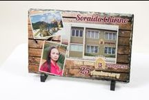 Rock Solid Idea's / Stone has never been so beautiful!   Natural slate gives your photo's a timeless look.