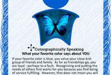 Color palette blue / True blue, baby I love you