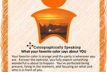 Color palette orange