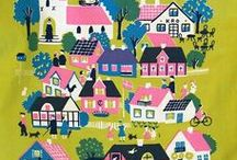 Illustrations -House,Town,Shop,Scnenary-
