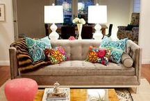 Home {Decor} / Home Decor Inspiration, Ideas and Designs.  I love all things glamorous, chic, gold, bold, and colorful.