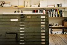 W O R K S P A C E / home offices and art studios - clever storage and interesting spaces
