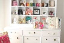 Home {Studio} / Tips and ideas for organizing and decorating creative spaces, such as sewing and craft rooms, and art studios.