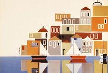 ♠ design | greek posters / #Greece, #Gréce, #Grecia, #Griechenland, #Ελλάδα, #Ελλάς, #Hellas, #Vintage, #Retro, #30s, #40s. #50s, #60s, #70s, #80s, #design, #graphic / by Vector Hugo