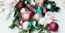 Bright Christmas / Bright colorful Christmas trees and decor