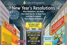 New Year's Resolutions / Most interesting infographic on New Year's Resolutions  #infographic #NewYear