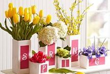 """SPRING! - """"The earth laughs in flowers."""" / Spring & Spring decor ideas"""
