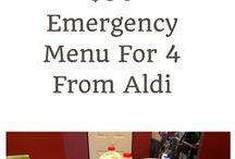 Cheap or Emergency Menus