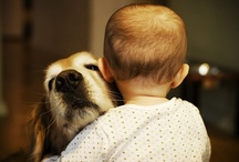 Cute kids and cuddly creatures. / by Mila Wain