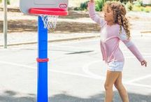 Let's Play Ball! / Little Tikes and the LeBron James Family Foundation are teaming up with a line of Foundation branded sports products. Now your kids can get their start with their very own basketball set. With every purchase a donation will be made to the LeBron James Family Foundation. It's a Slam Dunk!