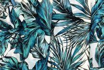 tropical / Tropical prints- palms, fronds, birds, flowers