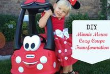 Cozy Coupe Halloween / How to transform a Little Tikes Cozy Coupe or Cozy Coupe Wagon to match your little one's Halloween costume.